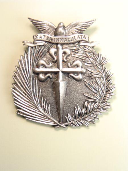"HERLDICAS religious medals RELIEVE ""CRUZ DE SANTIAGO DE PALMA AND LAUREL ORLA stamped 75 MM WITH HOLY SPIRIT"""