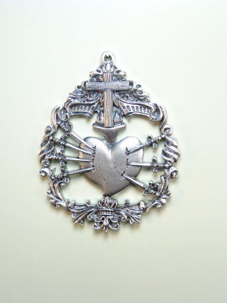 """HERLDICAS religious medals RELIEVE """"Our Lady of Sorrows 70 MM WITH CROSS Arbolea"""""""