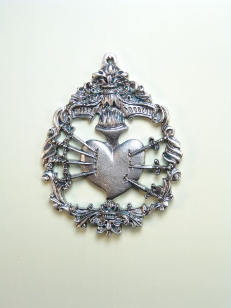 """HERLDICAS religious medals RELIEVE """"Our Lady of Sorrows 70 MM"""""""