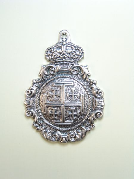 "HERLDICAS religious medals RELIEVE ""Jerusalem Cross 75 MM SOLID"""