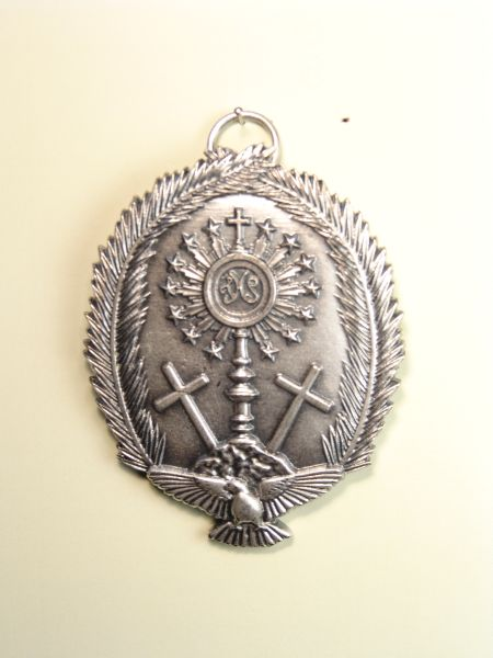 """HERLDICAS religious medals RELIEVE """"CUSTODY ON MOUNT CALVARY HOLY fringed with palms Debossed 70 MM"""""""