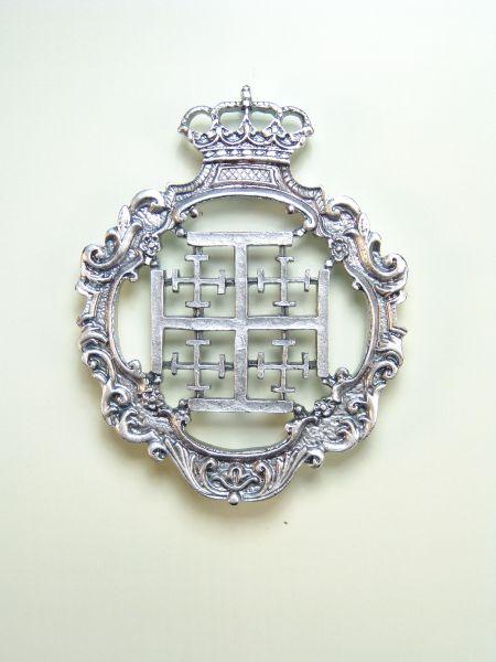 "HERLDICAS religious medals RELIEVE ""SANTA CRUZ DE 70 MM CALADA Jerusalem"""