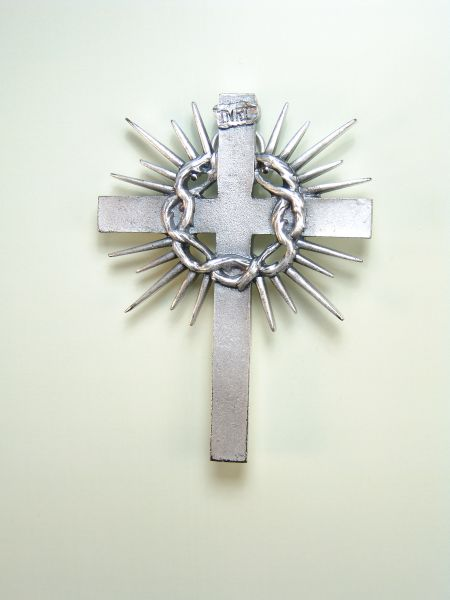 """HERLDICAS religious medals RELIEVE """"SANTA CRUZ AMERICA CROWN OF THORNS interlaced with flashes 80 MM"""""""