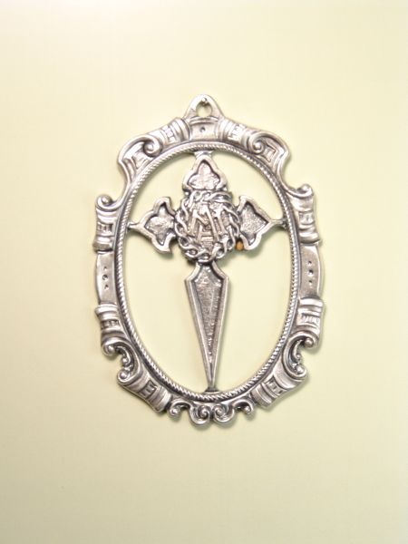 "HERLDICAS religious medals RELIEVE ""CRUZ DE SANTIAGO TO OWN ORLA CALADA 70 MM"""