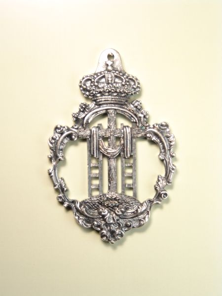 """HERLDICAS religious medals RELIEVE """"CROSS WITH SCALES AND BAROQUE CALADA ORLA SHROUD 75 MM"""""""