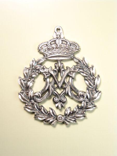 """HERLDICAS religious medals RELIEVE """"ORLA LAUREL AVE MARIA 75 MM"""""""