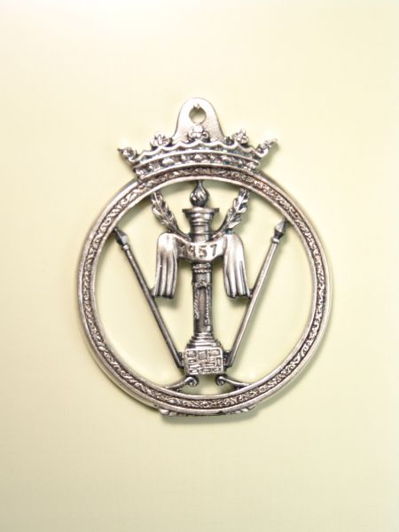 """HERLDICAS religious medals RELIEVE """"WHIPS COLUMN laureate spears and stamped circular border CALADA CROWN DUCAL 70 MM"""""""