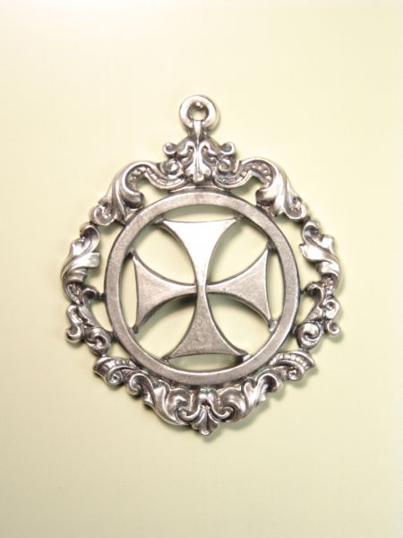"HERLDICAS religious medals RELIEVE ""MALTESE CROSS ON SOLID ORLA CALADA 70 MM BAROQUE"""