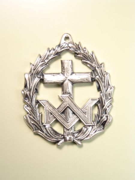 """HERLDICAS religious medals RELIEVE """"CROSS OVER AMERICA PALM AVE MARIA 70 MM fringed"""""""