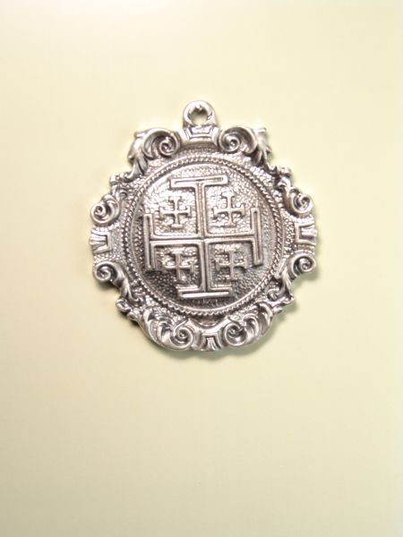"""HERLDICAS religious medals RELIEVE """"Holy Cross in Jerusalem 55 MM SOLID"""""""