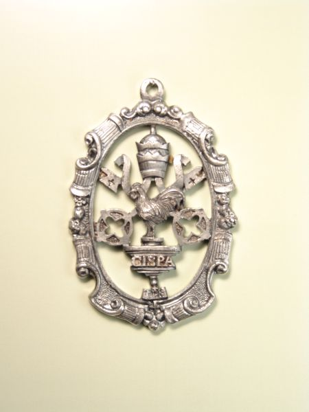 """HERLDICAS religious medals RELIEVE """"DISCLAIMERS OF SAN PEDRO ON OWN ORLA CALADA 70 MM"""""""