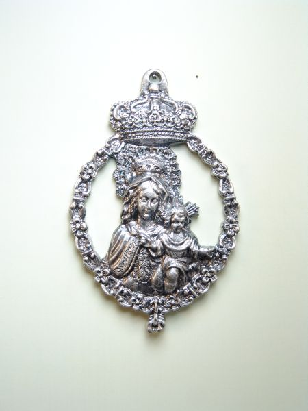 "RELIGIOUS MEDALS images RELIEVE ""HOLY MOTHER OF GOD AND CROWN ORLA TOIZON 75 MM"""