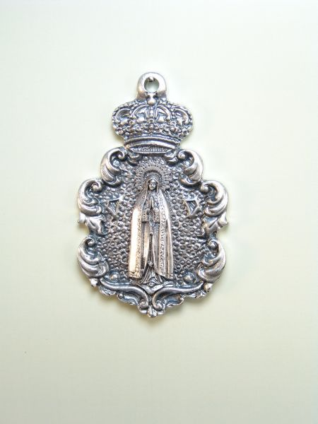 "RELIGIOUS MEDALS images RELIEVE ""Virgin of Fátima ORLA 65 MM BAROQUE"""
