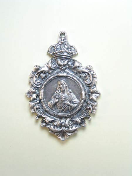 "RELIGIOUS MEDALS images RELIEVE ""Sacred Heart of Jesus 70 MM"""