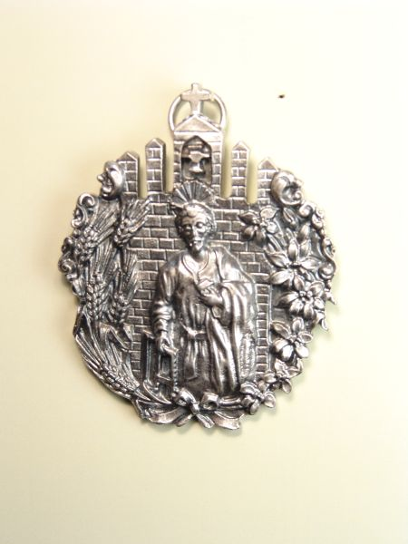 "RELIGIOUS MEDALS images RELIEVE ""St. Joseph the Worker 70 MM"""