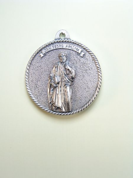 "RELIGIOUS MEDALS images RELIEVE ""SAN PEDRO 50MM CIRCULAR Apostle"""