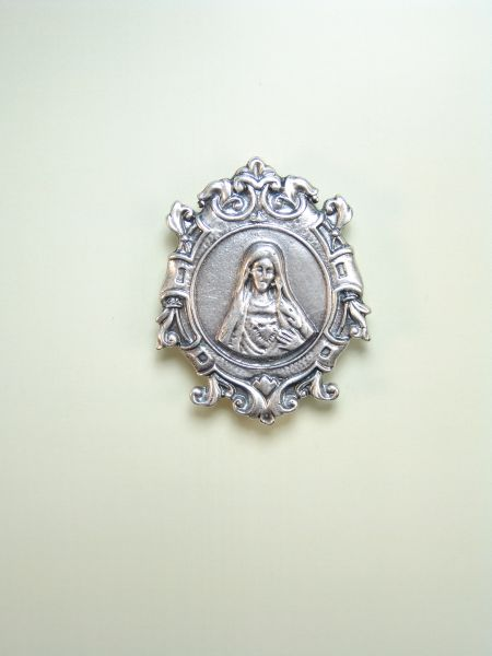 "RELIGIOUS MEDALS images RELIEVE ""Immaculate Heart of MARIA 50 MM"""