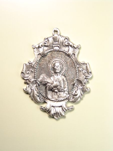 "RELIGIOUS MEDALS images RELIEVE ""SAN ISIDRO 70 MM SOLID ORLA PARCHMENT"""
