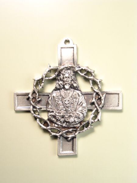 "RELIGIOUS MEDALS images RELIEVE ""MEDINACELI WITH CROWN OF THORNS AND CROSS TRINITARIA 75 MM"""