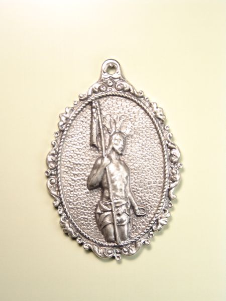 "RELIGIOUS MEDALS images RELIEVE ""ORLA risen Jesus embossed 75 MM OVAL"""