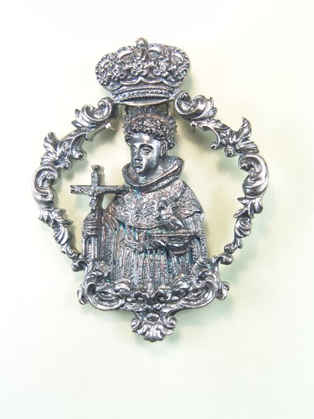 "RELIGIOUS MEDALS images RELIEVE ""SAN NICOLAS ORLA CALADA 80 MM BAROQUE"""