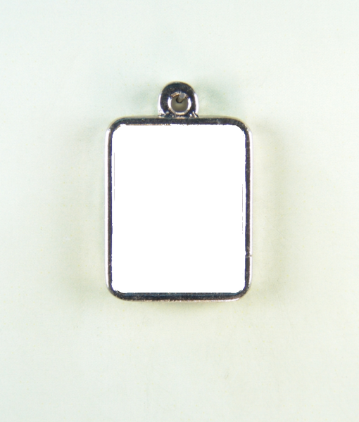 "Religious medal PHOTO MOD ""HEIGHT 24 MM SQUARE SIMPLE"""