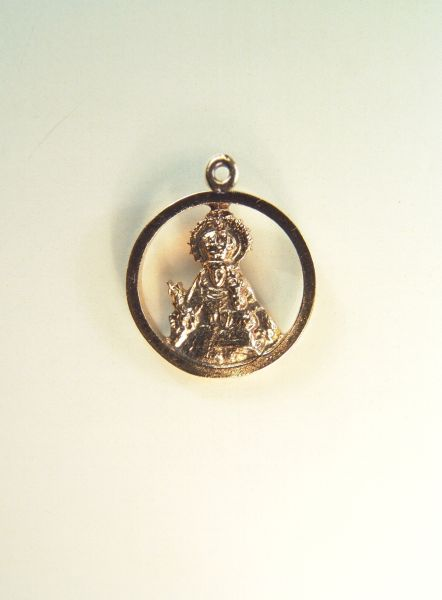 "Religious medal images RELIEVE ""MADONNA AND SMOOTH NIO ORLA ARO 21 MM HEIGHT"""