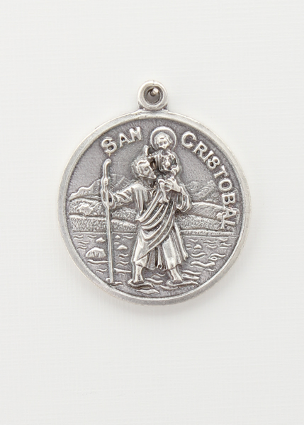 RELIEVE saints medal BAO 25 MM SILVER LADY OF FATIMA