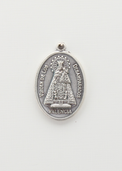 BAO saints medal OVAL RELIEF SILVER LADY OF THE HOMELESS