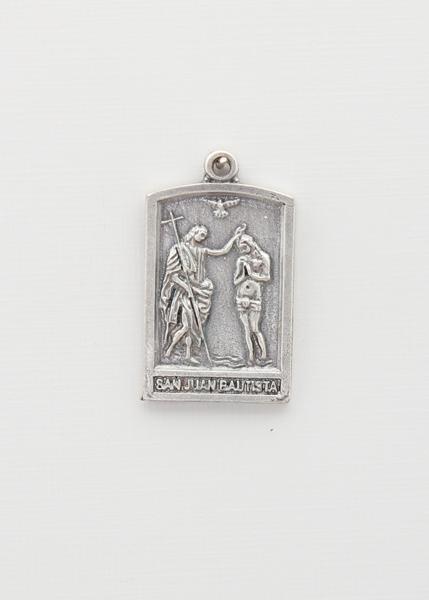 BAO PORTICO saints medal RELIEF SILVER SAN JUAN BAUTISTA