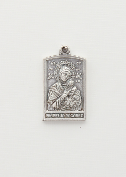 BAO PORTICO saints medal RELIEF SILVER LADY OF PERPETUAL HELP