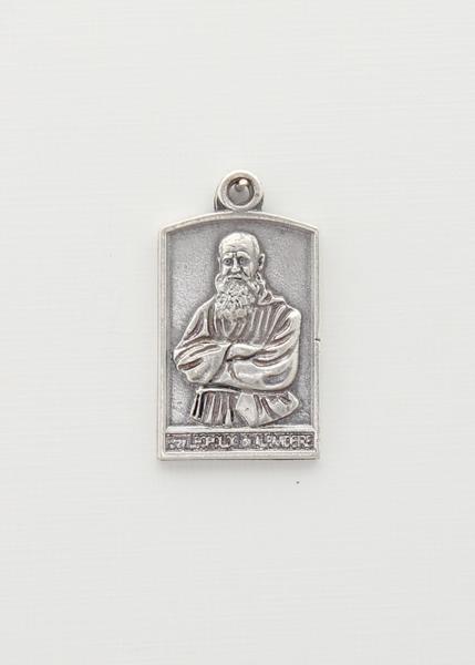 BAO PORTICO saints medal RELIEF SILVER Fray Leopoldo de ALPANDEIRE
