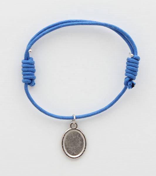 Medal cotton BRACELETS WITH PHOTO BLUE