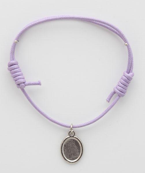 Medal cotton BRACELETS WITH LILA PHOTO