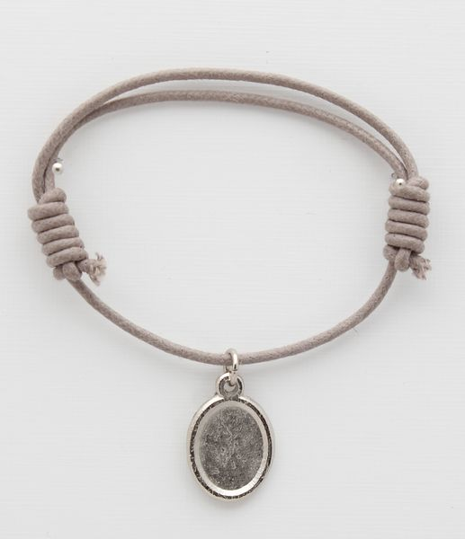 Cotton BRACELETS BROWN WITH PHOTO medal