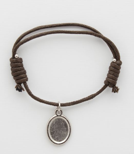 Medal cotton BRACELETS WITH DARK BROWN PHOTO