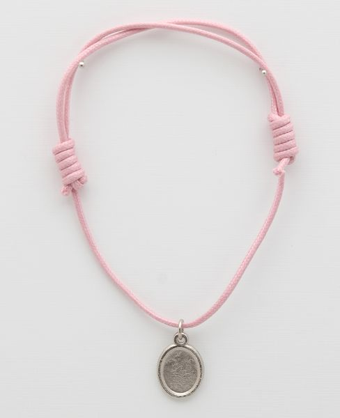 Medal cotton BRACELETS WITH PINK PHOTO