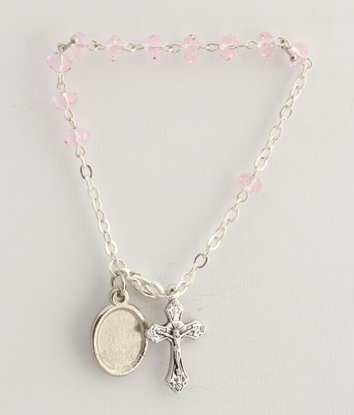 BRACELET PINK GLASS 6 MM decayed
