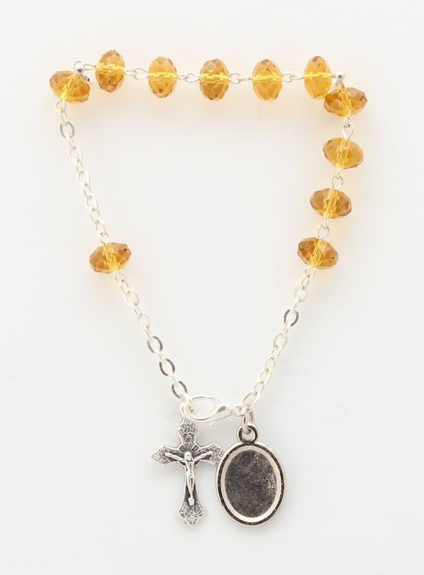 8MM GLASS BRACELET YELLOW decayed