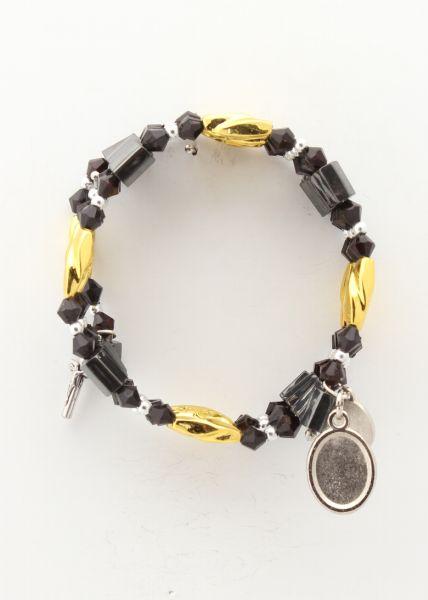 Magnetic BRACELET BLACK - GOLD