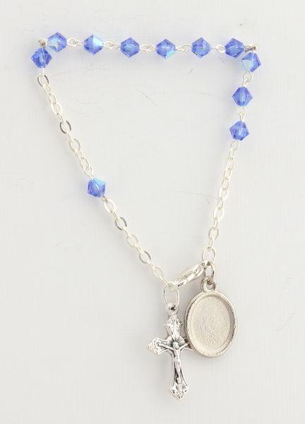 SWAROVSKI CRYSTAL BRACELET 5MM BLUE CONE