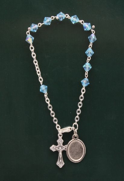 BRACELET SWAROVSKI CRYSTAL 6MM BLUE CONE