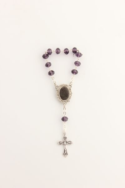 ROSARIO 1 MYSTERY PURPLE CRYSTAL 8MM decayed