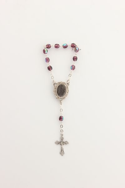 MYSTERIES CRYSTAL 6MM ROSARY 1 PURPLE