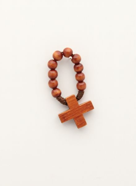MYSTERY WOOD ROSARY 1 OAK FINGER