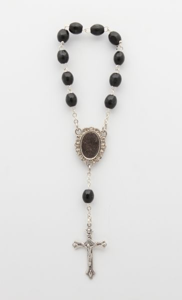 LISA WOOD ROSARY 1 MYSTERY EBONY OVAL 6.5