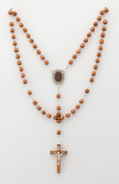 LISA WOOD ROSARY ROUND 5 7.5 MYSTERIES OAK