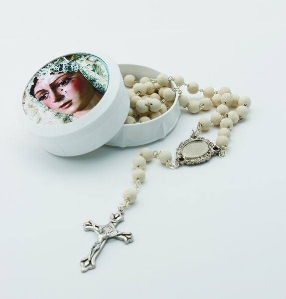 SCENT SCENTED ROSARY 5 MYSTERIES WITH BOX AND PHOTO JAZMIN